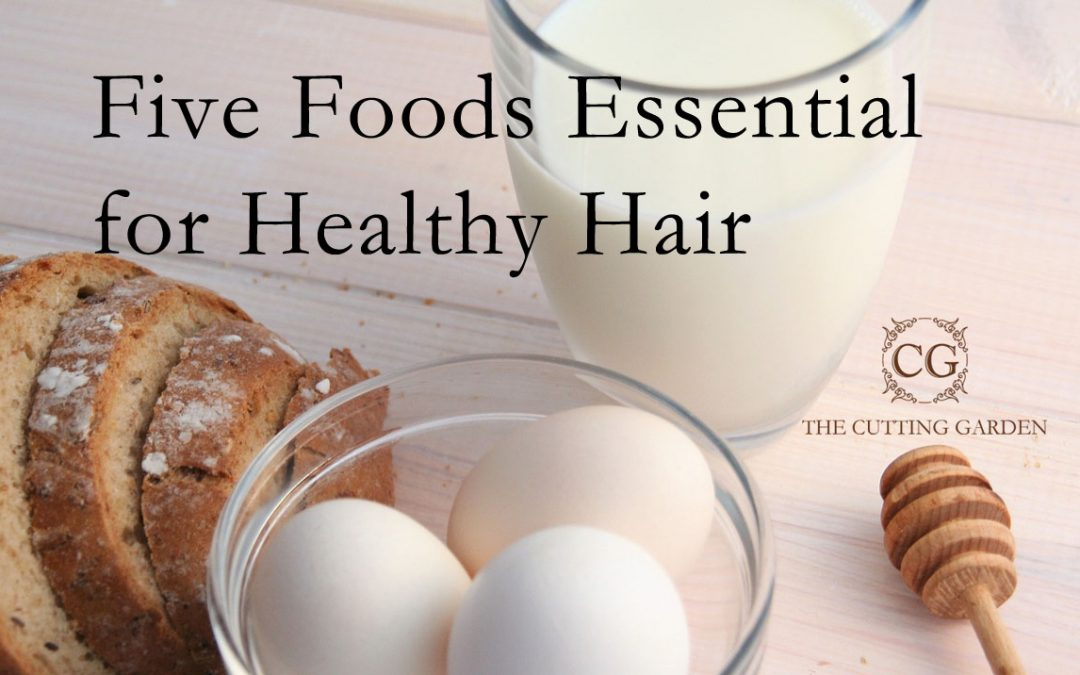 Blog Five-Foods-Essential-for-Healthy-Hair The Cutting Garden