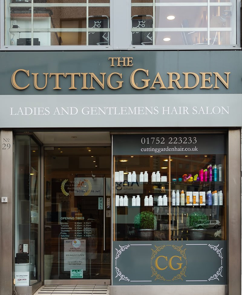 Hairdresser In Plymouth - The Front of Shop - The Cutting Garden