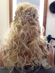 Image of a curly blonde updo.