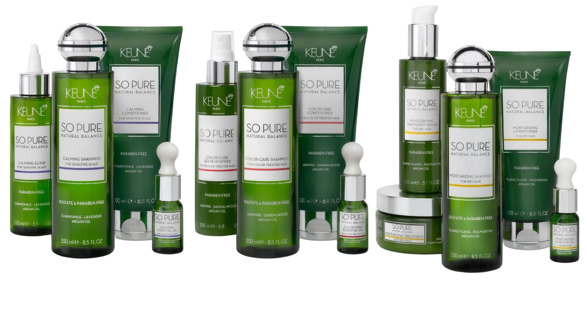 Why We Use Keune: Collage image of some Keune products.