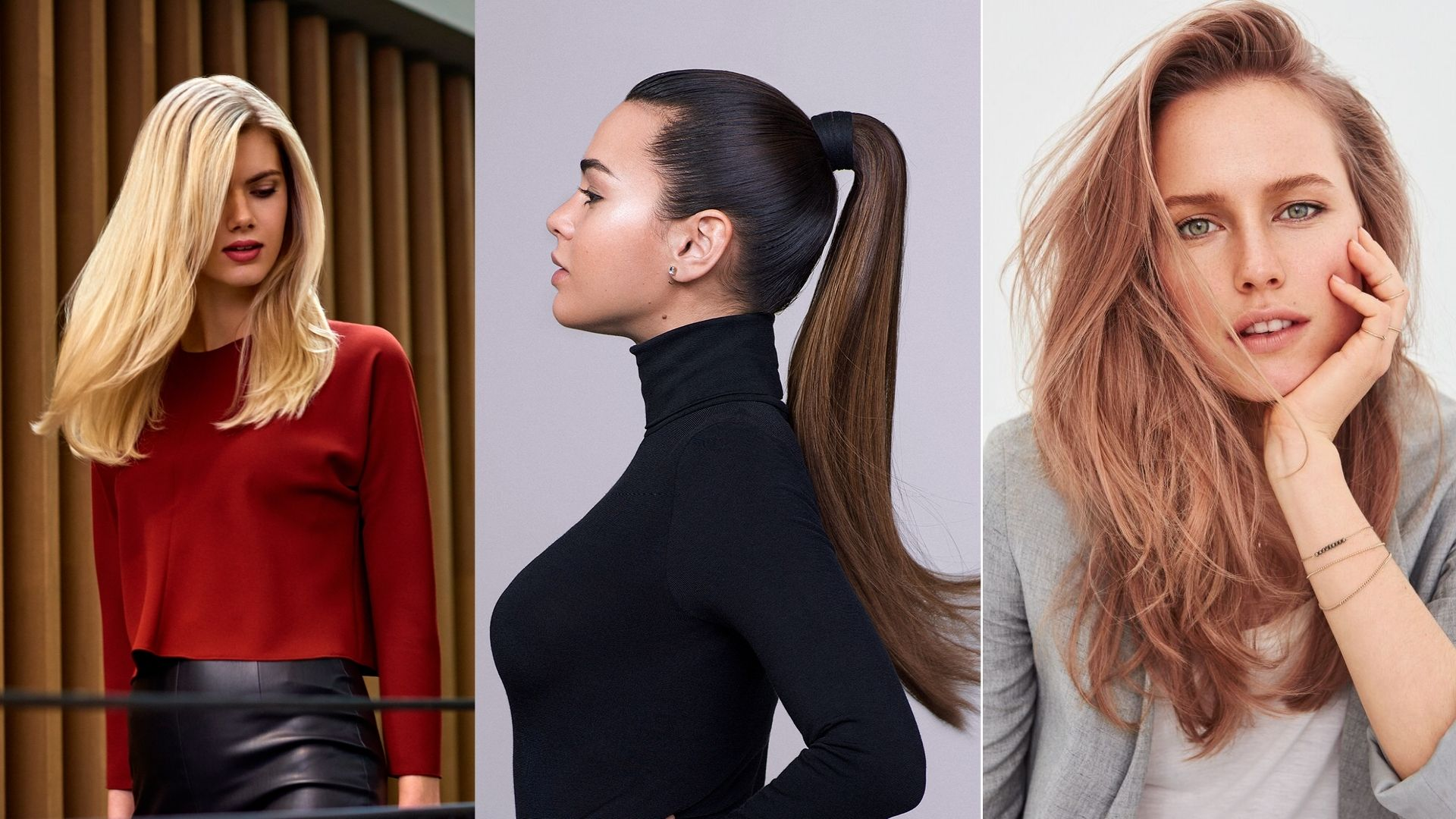 Why We Use Keune: Collage image of three women with styled hair.