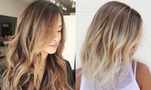 What is Ombre: Image of two examples of Flamboyage.