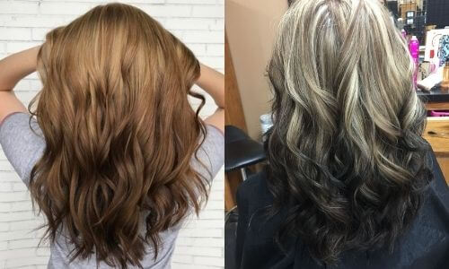 What is Ombre: Image of two examples of Reverse Ombre.