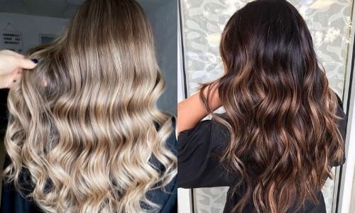 What is Ombre: Image of two examples of Shatush.
